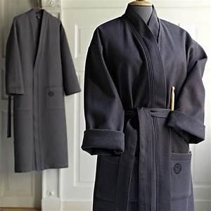Morgenmantel Damen Baumwolle : baumwolle bademantel kimono sauna morgenmantel saunamantel damen herren bad textilien badem ntel ~ Watch28wear.com Haus und Dekorationen