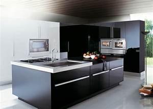 idee cuisine avec ilot perspective mouvement lumiere With idee conception cuisine