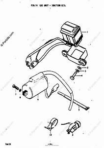 Suzuki Motorcycle 1974 Oem Parts Diagram For Cdi Unit