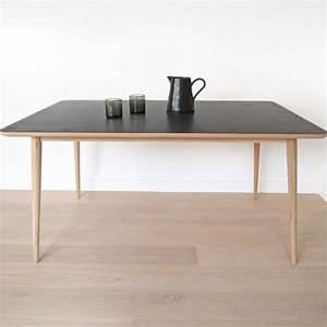 Table Chene Gris : table manger en ch ne massif avec plateau gris agira ~ Teatrodelosmanantiales.com Idées de Décoration