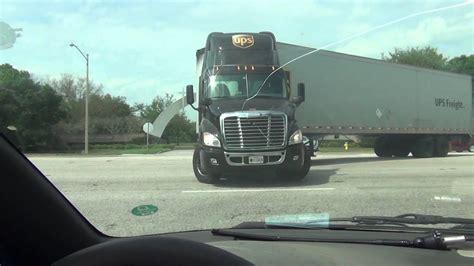 ups semi truck prefect  turn youtube