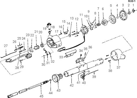 84 Chevy Steering Column Wiring Diagram by Exploded View For The 1984 Cadillac Cimarron Non Tilt