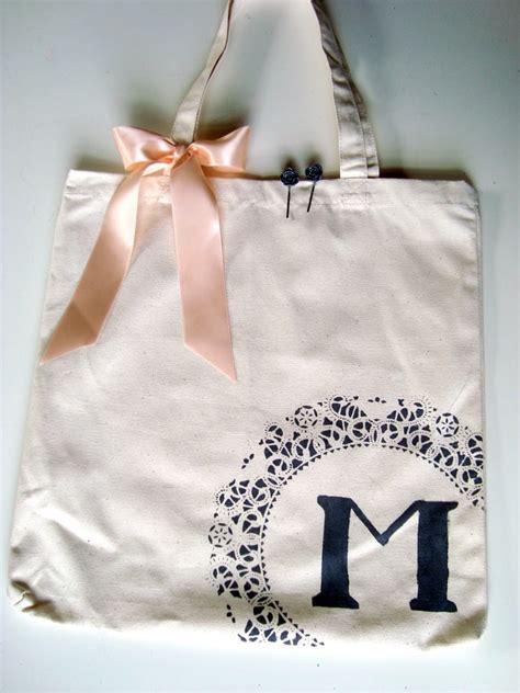 monogram canvas tote  beautiful diy bridesmaid gifts   chic  cheap popsugar