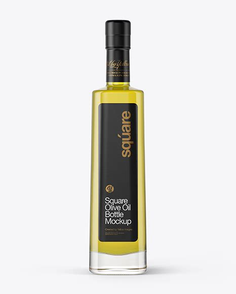 Download free glass oil bottle psd mockup in 4k and embody your. 1L Clear Glass Olive Oil Bottle Mockup - 1L Green PET ...