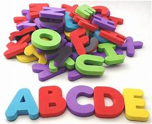 57 foam uppercase alphabet magnetic letters capital With jumbo foam magnetic letters