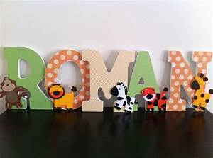 jungle wooden letters safari nursery letters by With jungle letters for baby room