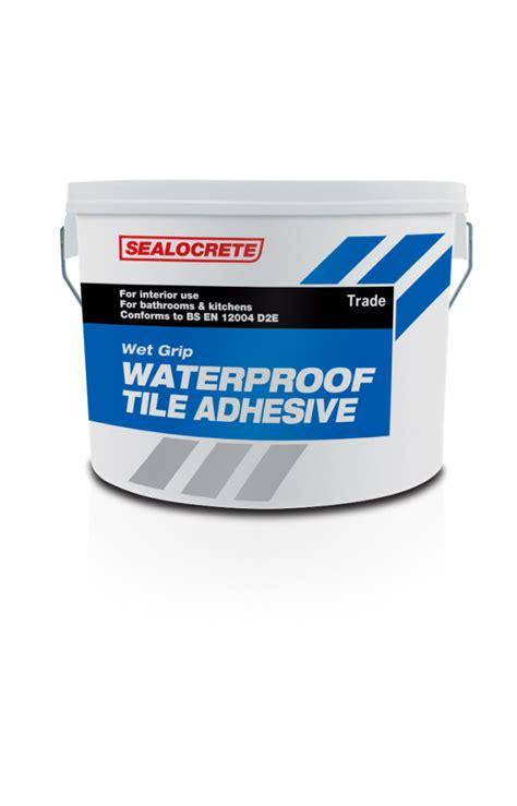 sealocrete grip waterproof tile adhesive trade