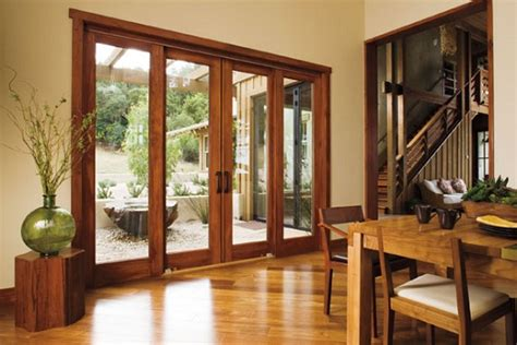 wood and aluminum exterior sliding glass doors