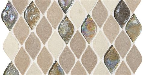 limestone collection blanc  beige rain drop da natural stone mosaic tile  trend alert shaped tiles pinterest natural mosaics