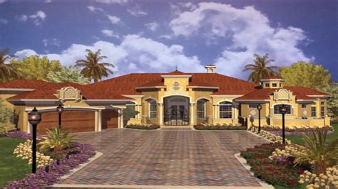 Single Storey Luxury Mediterranean House Plans One Story