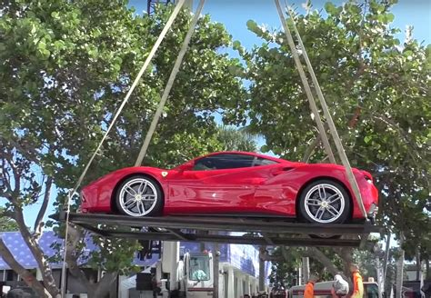 lifted ferrari ferrari s entire lineup being lifted by crane off a
