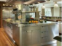 metal cabinets kitchen Stainless Steel Kitchen Cabinets: Pictures, Options, Tips ...