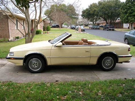 Tc By Maserati by 1989 Chrysler Tc By Maserati For Sale Classiccars