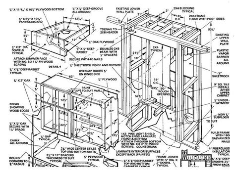 kitchen cabinet blueprints free woodworking plans kitchen cabinets how to build diy 5160