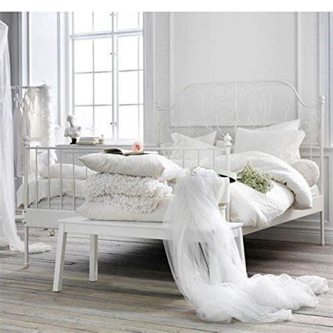 amazoncom ikea leirvik bed frame white full size iron