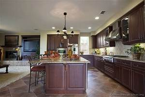 pictures of kitchens traditional dark wood cherry color 03 1234