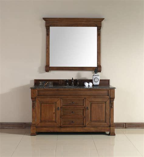 60 inch vanity cabinet single sink 60 inch single sink bathroom vanity in country oak