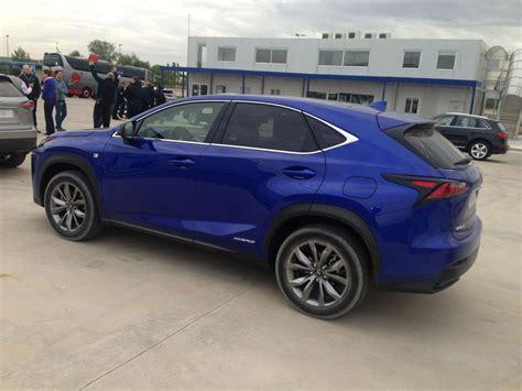 ultrasonic blue lexus nx  sport spotted  madrid lexus