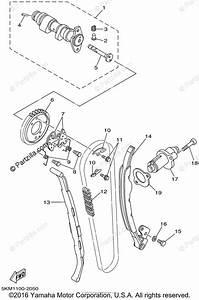 Yamaha Atv 2002 Oem Parts Diagram For Camshaft  U0026 Chain