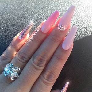 brilliant pink acrylic nails to try naildesignsjournal