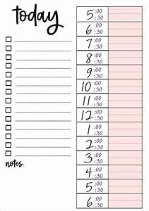 Template For Daily Schedule Printable To Do Lists That Work To Do Lists Printable
