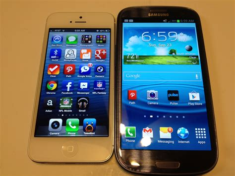 iphone or galaxy iphone 5 vs samsung galaxy s3 benchmarks only review