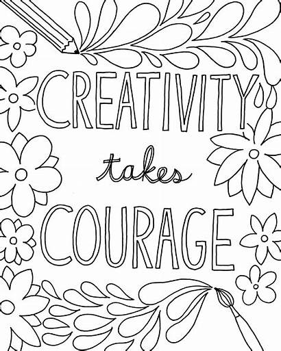 Coloring Pages Sayings Quote Printable