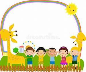 Kids And Frame Stock Image - Image: 18520681