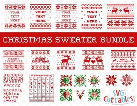 It's time to start your christmas right with our 4th volume of the christmas craft bundle. Christmas Sweater Bundle svg Ugly Sweater Merry Christmas ...