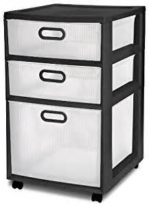 amazon com sterilite 36129002 ultra 3 drawer cart black