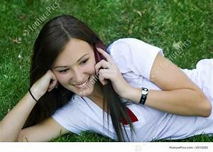 Phone Extension Number Teenagers Beautiful Girl Talking On The Phone Stock
