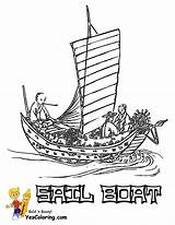 Coloring Boat Pages Sail Sailing Asian Yescoloring Boats Ship Sheet Superb Oriental sketch template
