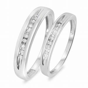 110 Carat TW Diamond His And Hers Wedding Rings 10K