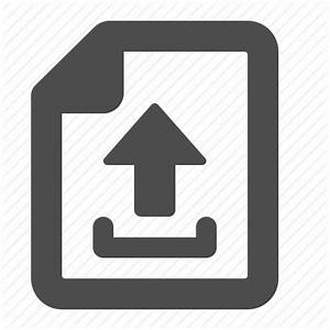 arrow document file internet page upload web icon With documents upload icon