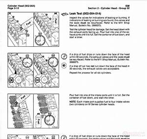 Cummins Ism Qsm11 Series Diesel Engine Troubleshooting And
