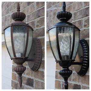 making the old look new again with spray paint diy With painting an outdoor light fixture