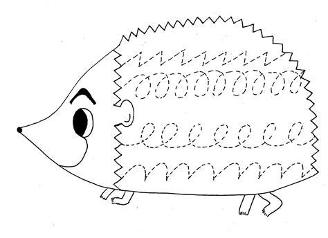 motor skills worksheets crafts and worksheets for 769 | hedgehog trace worksheet