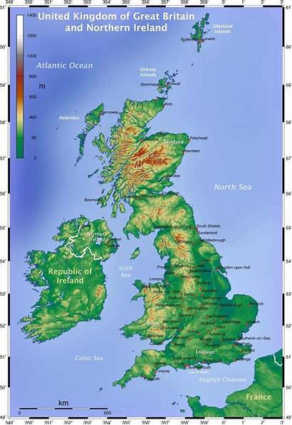 Britain Map Maps Europe Northern