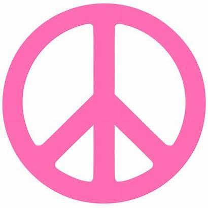 Peace Pink Sign Clipart Clip Symbols Zebra