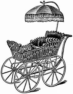Old Fashioned Baby Carriage Clipart (58+)