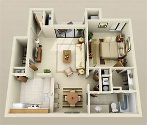 le plan maison d39un appartement une piece 50 idees With plan d appartement 3d 0 eyredeco decoration dinterieur