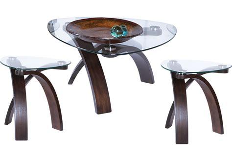 Grant City Merlot 3 Pc Table Set  Table Sets Dark Wood