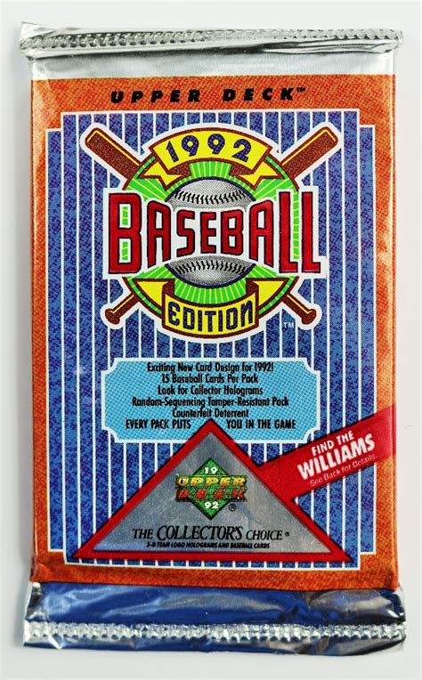 vintage 1992 edition deck baseball trading cards mlb 92 collectors choice ebay