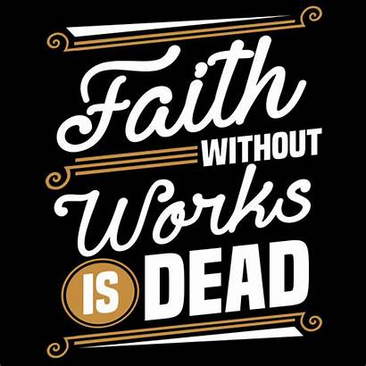 Faith Works Without Dead Vector Iron Clipart