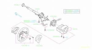 2010 Subaru Forester Steering Column