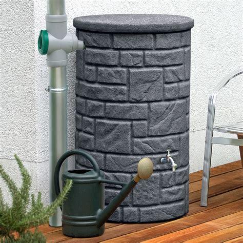regentonne mit überlaufschutz regentonne anthrazit arcado 230 l black granit
