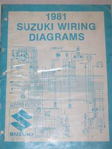 Official 1981  U0026 39 81 Suzuki Wiring Diagram Manual X Model