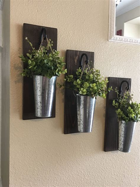 Wall Home Decor by Rustic Wall De Rustic Hanging Planter By