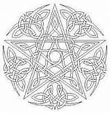 Pentacle Coloring Pages Mandala Wiccan sketch template