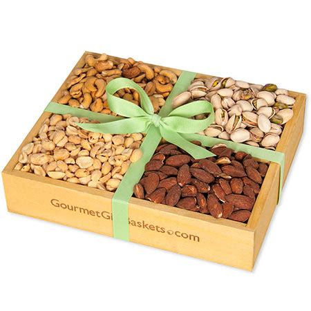 roasted nuts gift crate by gourmetgiftbaskets com